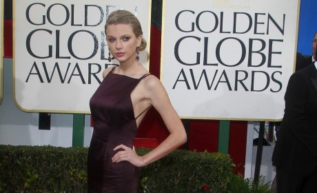 Taylor Swift at the Golden Globes