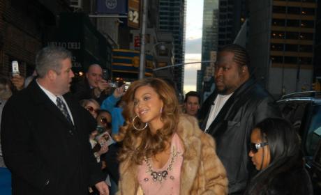 Beyonce Fur Coat