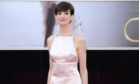 Anne Hathaway Oscars Dress 2013