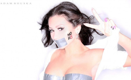 JWoww: Topless in Duct Tape Bra For NOH8!