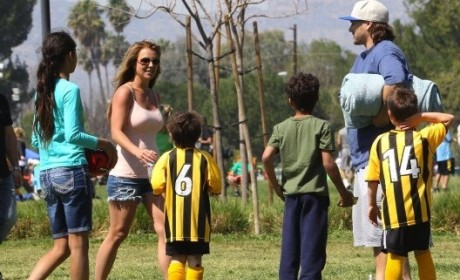 Britney Spears, Kevin Federline Reunite For Kids' Soccer Game