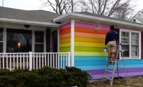 "Westboro Baptist Church Neighbor Buys, Paints Rainbow ""Equality House"" Next Door"