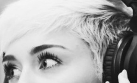 Miley Cyrus in Black and White