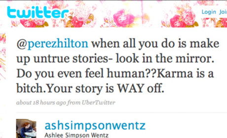 Ashlee Simpson to Perez Hilton: Get Ur Own Life!