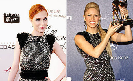 Fashion Face-Off: Evan Rachel Wood vs. Shakira