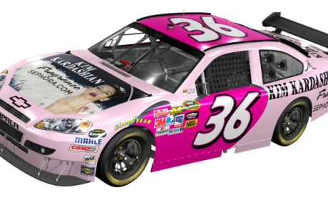 Sign of the Apocalypse: Kim Kardashian Featured on NASCAR Racing Car
