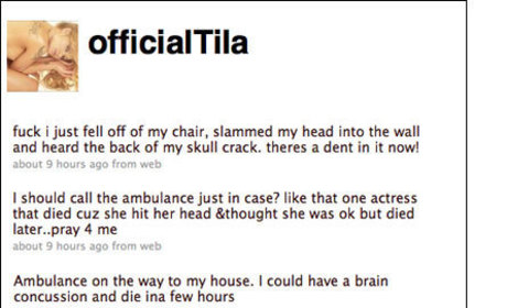 Tila Tequila Tweets About (Non) Near-Death Experience