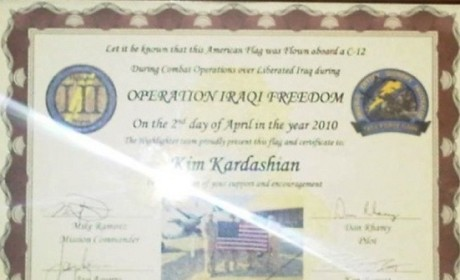 American Troops Honor Kim Kardashian