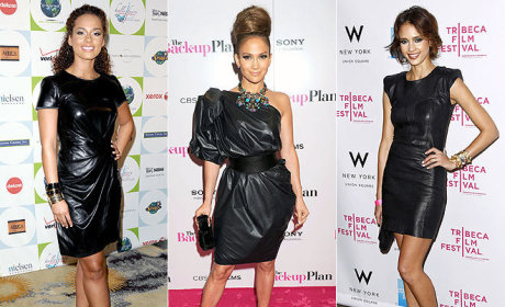 Who looks best in a leather dress?