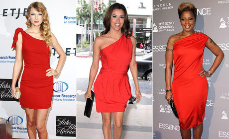 THG Trend Watch: One-Strapped Red Dresses