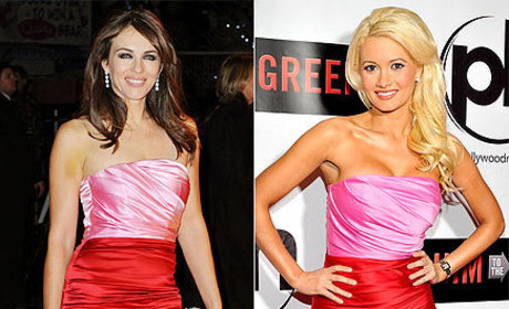 Fashion Face-Off: Elizabeth Hurley vs. Holly Madison