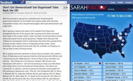 "Sarah Palin ""Crosshairs"" Map: Still on Facebook!"