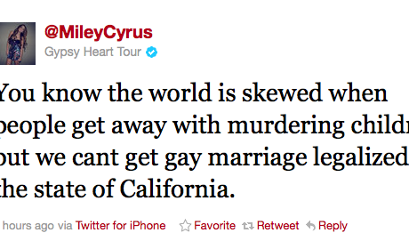 Miley Cyrus Reacts to Casey Anthony Verdict, Makes Gay Marriage Comparison