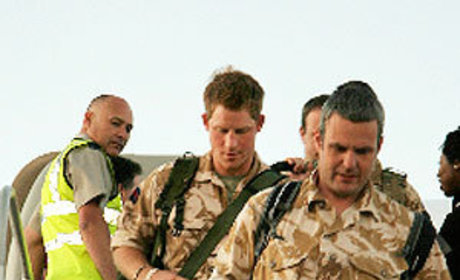 Man in Uniform: Prince Harry Touches Down in California