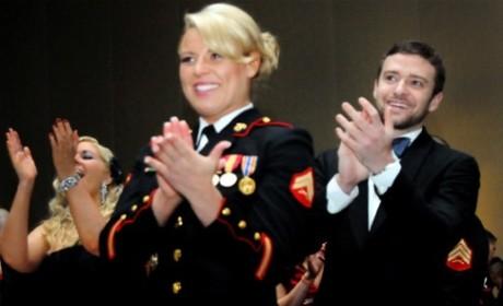 Justin Timberlake Attends Marine Corps Ball
