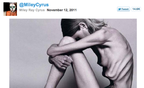 The photo released by Miley Cyrus is...