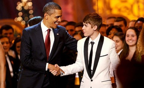 THG Caption Contest: When Justin Bieber Met Obama ...