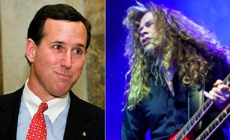 Dave Mustaine, Megadeth Frontman, Endorses Rick Santorum For President, Slams Newt Gingrich
