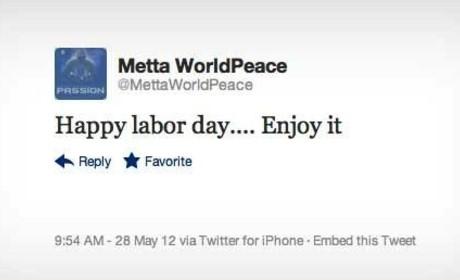 Metta World Peace Tweets Memorial Day Love