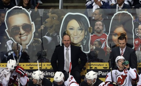 L.A. Kings Fans Use Giant Jersey Shore Cast Member Heads to Taunt Visiting Devils