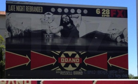 Russell Brand Billboard Vandalized With Katy Perry Diss