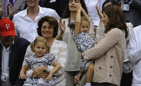 Roger Federer's Twins: Cutest Tennis Fans Ever?