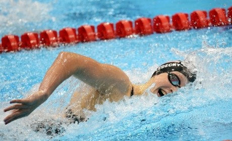 Katie Ledecky, 15, Strikes Gold in Freestyle