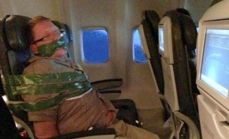 PHOTO: Unruly Passenger Duct-Taped to Airplane Seat