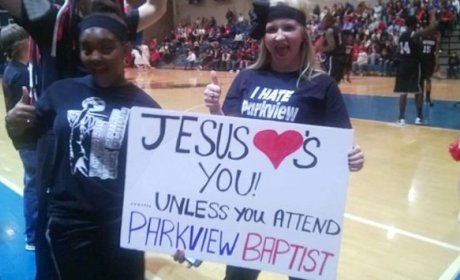 Louisiana High School Students Suspended for Trash Talking Jesus Sign