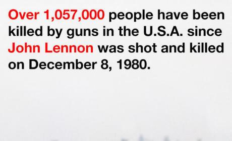 Yoko Ono Tweets Include Bloody John Lennon Glasses, Plea for Gun Control