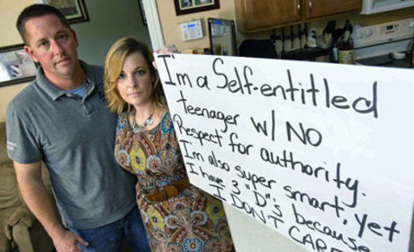 Parents Force Teen to Hold Humiliating Sign as Punishment: Tough Love or Too Far?