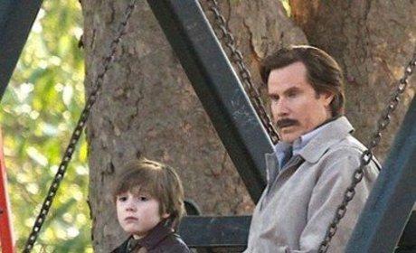 Anchorman 2 Set Photo: Ron Burgundy's Son?