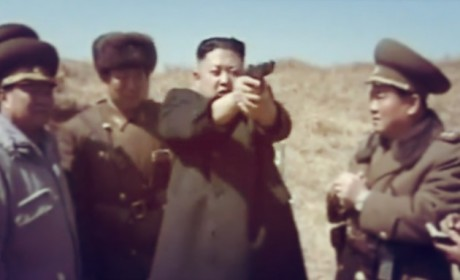 Kim Jong Un Fires Gun