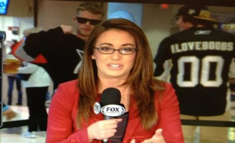 Penguins Fans Keep it Classy With Fox Sports Photobomb