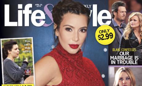 Kim Kardashian Baby Bump Cover