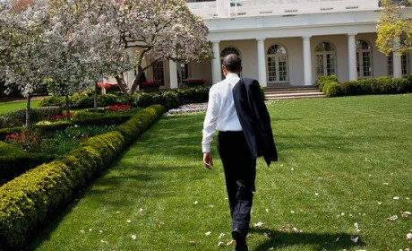 Obama Outside White House