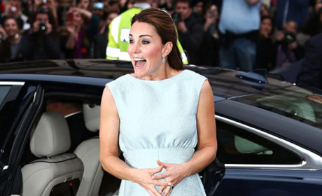 Kate Middleton Blue Dress Photo