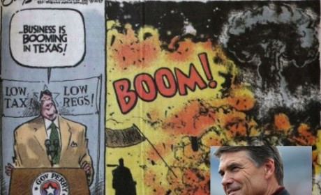 "Rick Perry Disgusted By ""Booming Business"" Cartoon"
