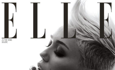 Miley Cyrus Elle Cover: Punk! Edgy! Topless!