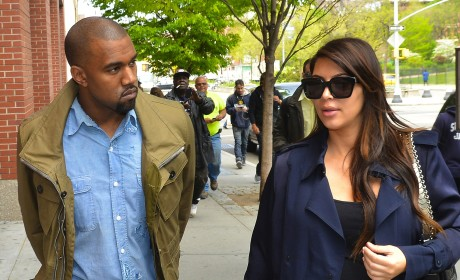 Kim Kardashian and Kanye West: Out and About in NYC!