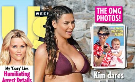Kim Kardashian Bares Bikini Bump, Sort of Taunts Critics