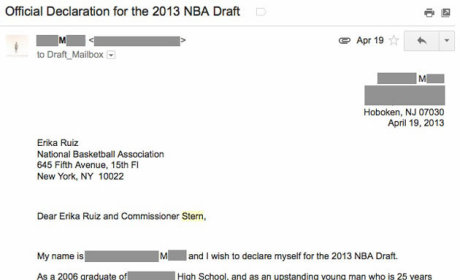 Fan Declares for NBA Draft, Is Deemed Free Agent by League