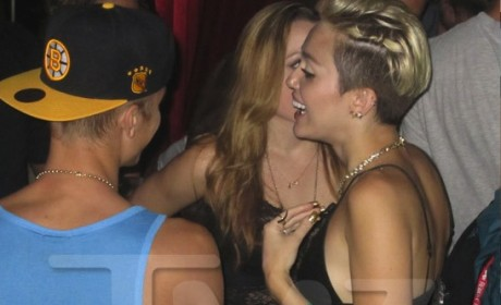 Justin Bieber and Miley Cyrus: Totally Flirting, Possibly Doing It!