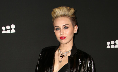 Miley Cyrus Goes Punk at MySpace Launch Party