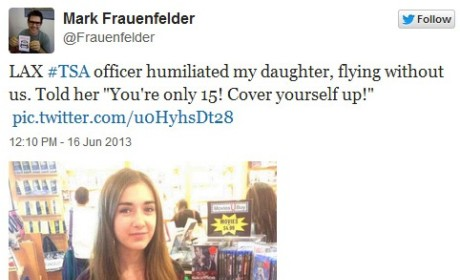 Mark Frauenfelder Rips TSA For Telling Daughter To Cover Up