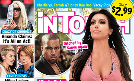 Kim Kardashian, Baby Ditched By Kanye Again?!