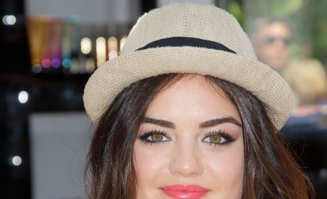 Lucy Hale in a Hat