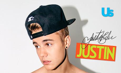 Justin Bieber Shirtless for Us Weekly
