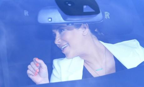 Kim Kardashian Driving