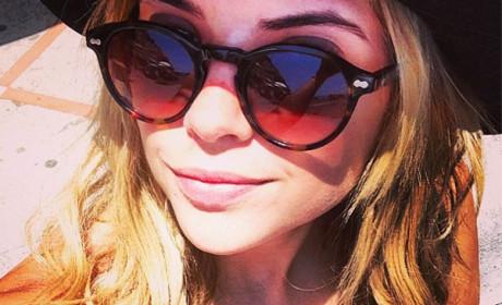 Ashley Benson Instagrams Selfie: Look at My Cleavage!